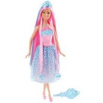 Boneca Barbie Rosa Reino Dos Penteados Mágicos Mattel
