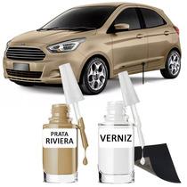 Tinta Tira Risco Automotivo Ford Ka Cor Prata Riviera Origin