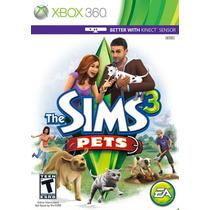 Jogo Novo Lacrado The Sims 3 Pets Pra Xbox 360