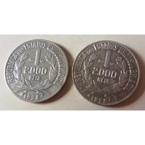 2 Moedas 2.000 Réis Brasil 1924 1928   Dois Mil #1