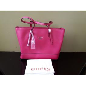 Bolsa Guess Para Dama Rosa Brillante Grande