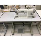 Máquina De Costura Reta Industrial Siruba C/ Motor E Mesa