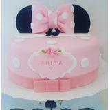 Torta Minnie Con Orejas Y Moño 2 Kilos Y Medio !!