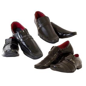 Sapato Social Kit 3x1 Jacaré Couro Ecológico