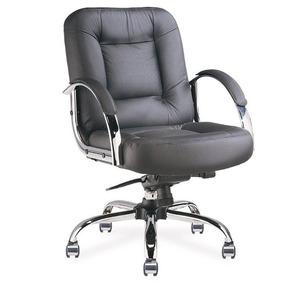 Cadeira Diretor Giratória Em Couro Natural - Lojix