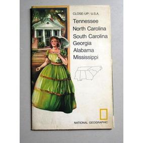 Mapa Close-up: Usa - Tennessee - North Carolina - South Caro