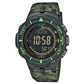 Casio Hombre Prg-300cm-3cr Pro Trek Solar-power Triple-senso