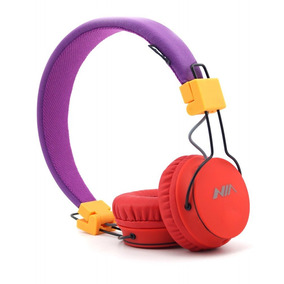 Granvela A1 Foldable Stereo Wired Headphones High P -morado