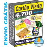 Cartão Visita 4.700 Modelos Vetor Editável Gráfica Coreldraw