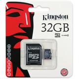 Cartão Memória Micro Sd 32gb Kingston 100% Original Lacrado