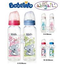 Mamadera Babelito Clear Plastic Varias Medidas +0 +6 +18m