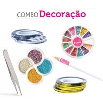 Kit Decoração De Unha Caviar, Pinça, Fios, Fimo E Pega Pedra