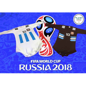 Bodys Para Bebé Personalizado Selección Camiseta Argentina