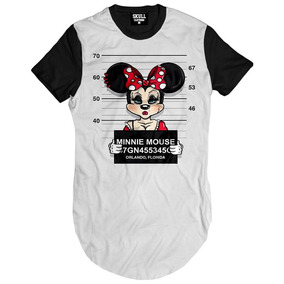 Camisa Camiseta Feminina Estilo Vestido Tshirt Minnie Mouse