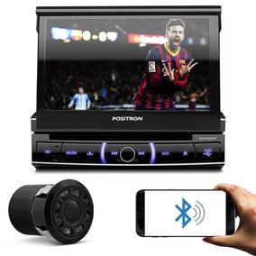 Dvd Player Pósitron Retrátil 7 Pol Bluetooth + Câmera De Ré