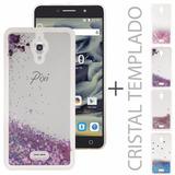 Funda Liquid Case Agua + Cristal Alcatel Pixi 4 6 8050