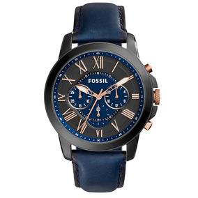 Relógio Fossil Masculino Analógico Azul Fs5061/0an Fs5061/0a