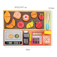 Set Registradora Alimentos Juguetes Montessori Didácticos