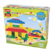 Coleção Fazenda Brinquedo Pedagógico Blocos De Montar