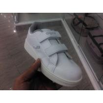 Zapatos Deportivos Colegiales Blancos Gigetto Nuevos