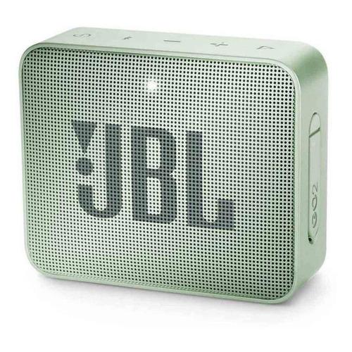 Alto-falante JBL Go 2 portátil com bluetooth seafoam mint 110V/220V