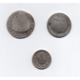 Lote Monedas De Plata Antiguas De América Distintas