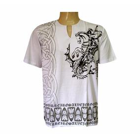 Bata Masculina Camisa São Jorge Umbanda E Candomblé