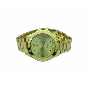 Lote 4 Relógios Analógico Dourado Com Pingente Ab-36