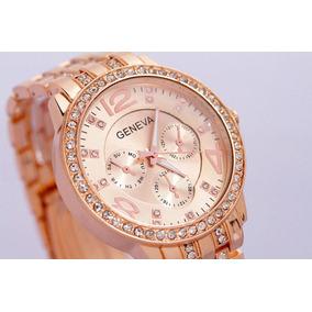 f913af1a6e5 Relogio Geneva Feminino Rose Euro - Relógios De Pulso no Mercado ...