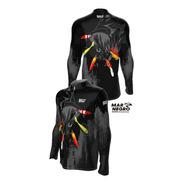 Camisa Pesca C/ Proteção Solar Uv 50 Dryfit Blusa Camiseta T