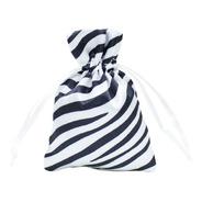 Saquinho De Cetim - Animal Print Zebra 7 X 10 Cm