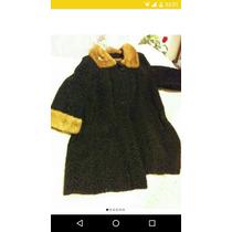Abrigo De Mink Talla 40 Negro Sweter Saco Capa Envió Gratis