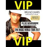 Bruno Mars - Campo Vip - 100% Calificaciones Positivas !!!