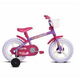 Bicicleta Bike Infantil Aro 12 Fofys Lilás Verden Menina