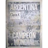 Diario Clarin Argentina Mundial 24 Junio 1978 + Deportivo