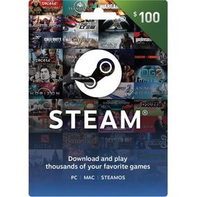 Steam 100 Usd ( Región: Mundial / Uruguay )