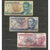 Coleccion De 3 Billetes De Nuevos Pesos