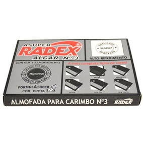 Almofadas Para Carimbo Alcar Número 3 - Radex