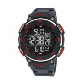 Reloj Q&q Para Caballero M124 Sumergible 5 Alarmas. Sj