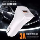 Cargador De Auto Quick Charge 3.0 Golf Gf-cq1
