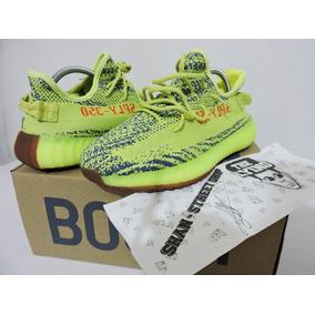 Tenis adidas Yeezy 350 Yellow Frozen En Caja + Envió Gratis