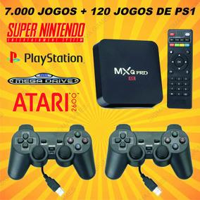 Tv Box Android + Emulador Video Game Retro Multijogos +64gb
