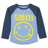Nirvana Remera Nenes Ropa Chicos Estampa Smile