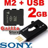 Tarjeta Memoria Micro Ms M2 Sony 2gb + Lector Usb Psp Go