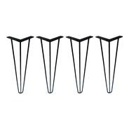 4 Pé Hairpin Leg 72cm Triplo Industrial Mesa Aparador 3/8