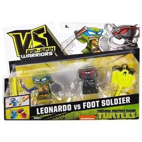 Vs Ripspin Warriors Surtido 1 Pack De 2 Leonardo Vs Foot Sol