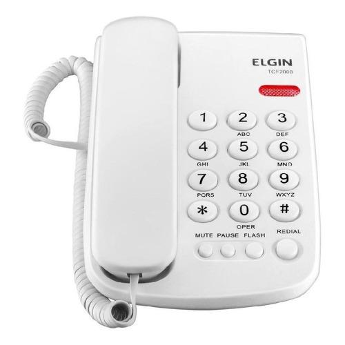 Telefone fixo Elgin TCF-2000 branco