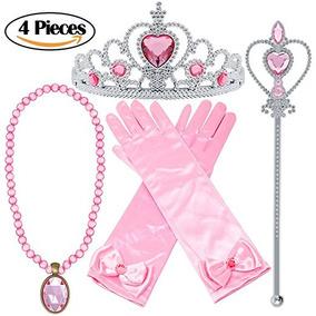Princess Dress Up 4 Piezas Accesorios Rosa Juego De Regalo P