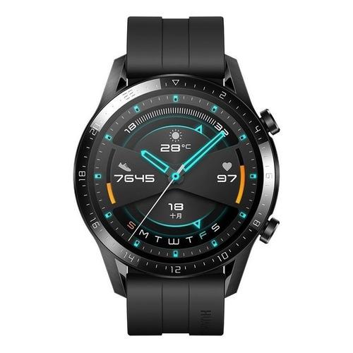 """Huawei Watch GT 2 Sport 1.39"""" caja 46mm de  metal y plástico  black malla  matte black de  fluoroelastómero LTN-B19"""