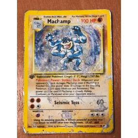 Cartas Pokemon Machamp Base Set 1er Edicion Played Holo